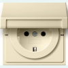 SCHUKO socket outlet 16 A/250 V~with hinged cover, child protection and k symbol