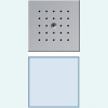 Flush-mounted door station with door loudspeaker and calling button, 1-gang, white LED call button illumination