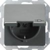 SCHUKO socket outlet 16 A/250 V~with hinged cover