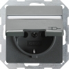 SCHUKO socket outlet 16 A/250 V~ with hinged cover and inscription space