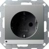 SCHUKO socket outlet 16 A/250 V~  with LED orientation light, child protection