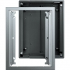 Flush-mounted mounting frame with device box